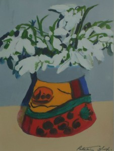 Tiree Snowdrops in Portuguese Vase